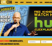 Eric Schwartz Comedian Unveils New Web Site Design