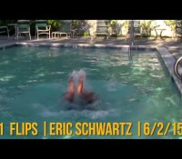 Comedian Breaks World Record for Underwater Somersaults – FAIL!