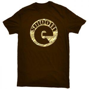 Smooth-E Logo Shirt - Gold on Brown